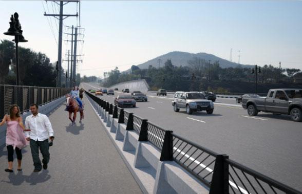 hamner ave bridge construction new bridge